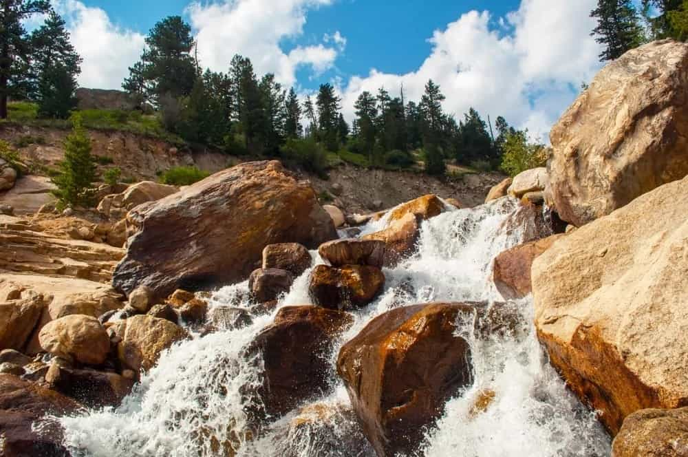 View of an alluvial fan in Rocky Mountain National Park.