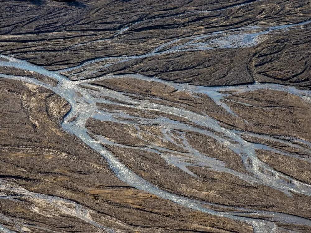 Braided stream in Denali National Park.