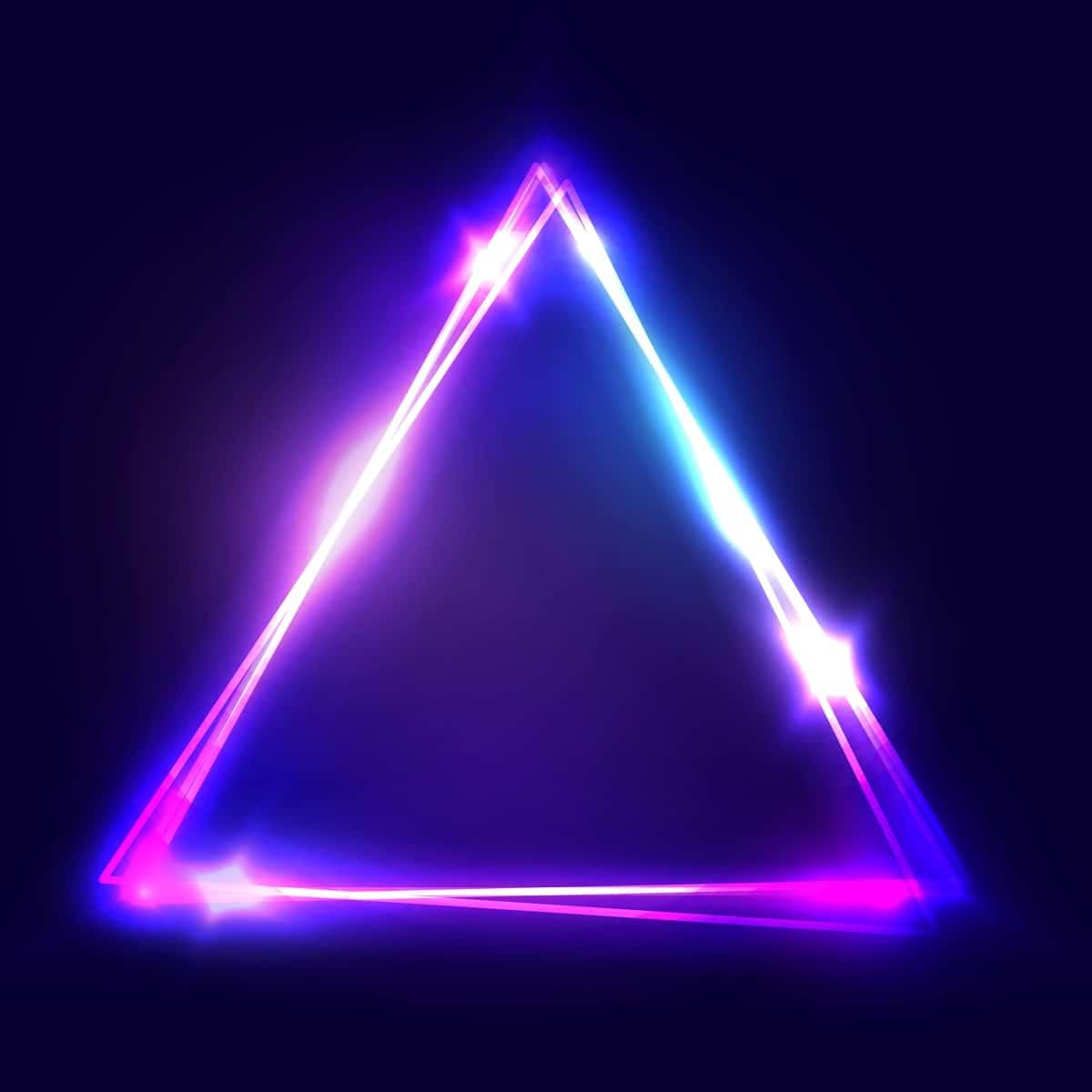 Sparkling, bright triangle vector