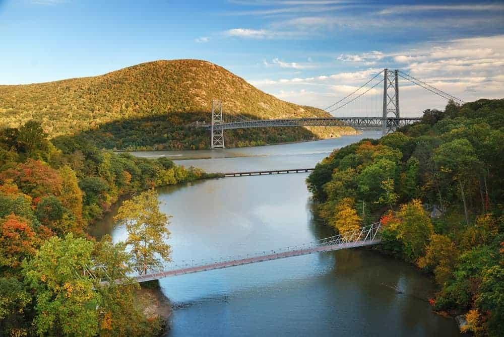 Bridge across the Hudson River.