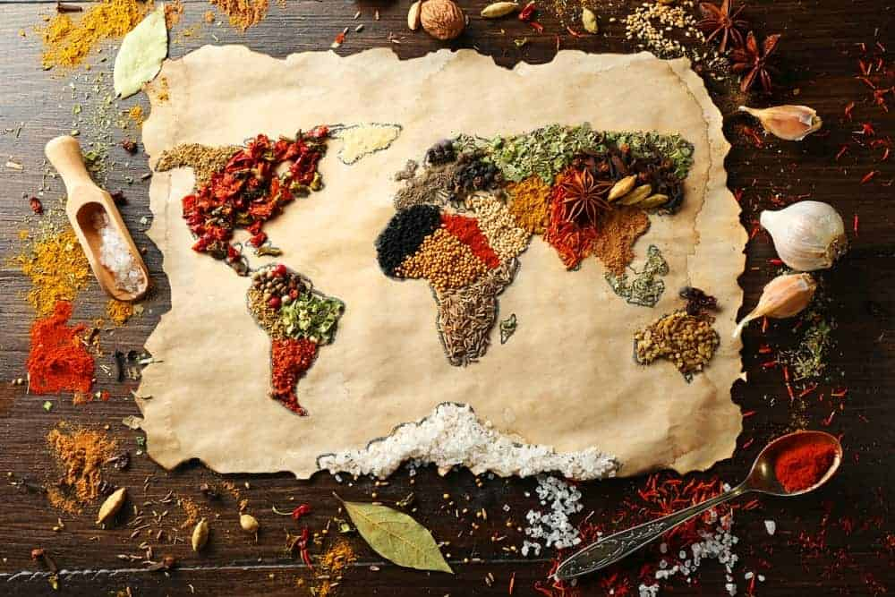 Resource map made with spices