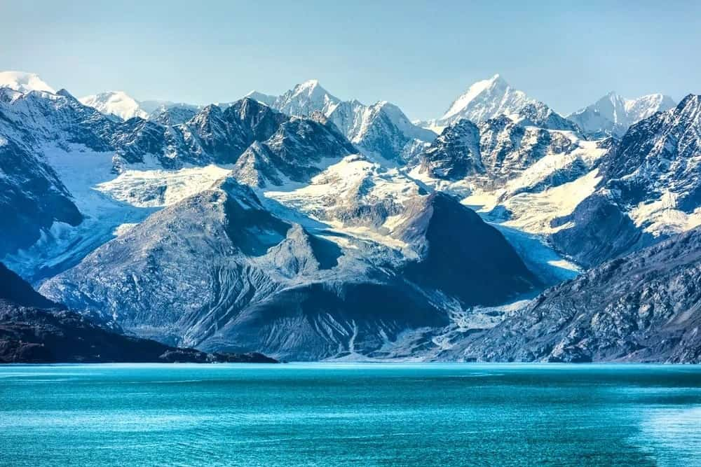 Stunning glaciers on mountains