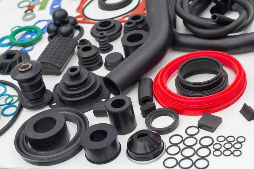 Rubbers of various types.
