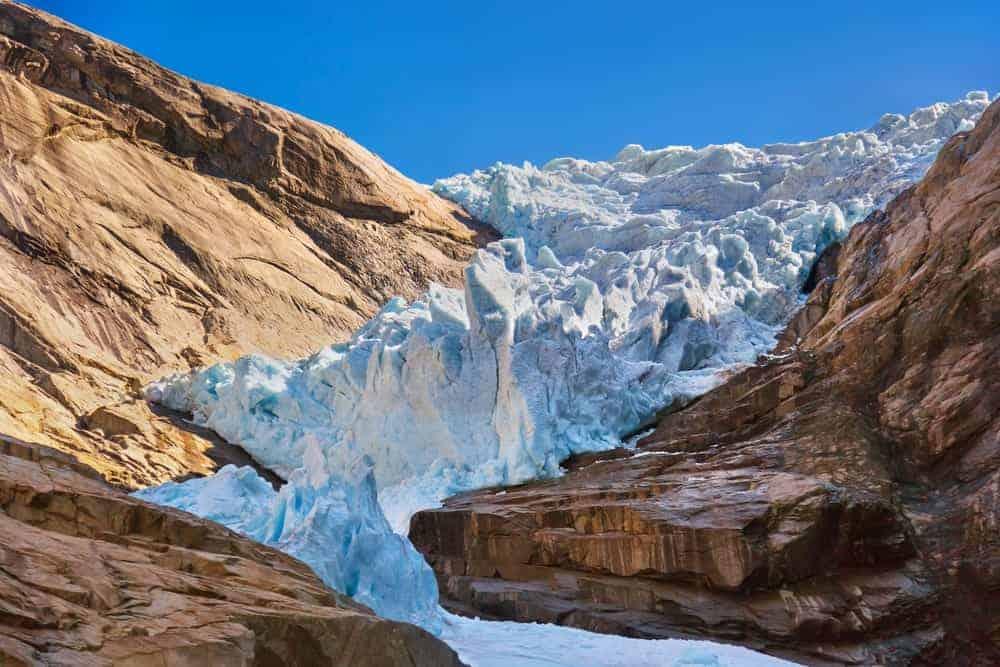 Glacier in a valley