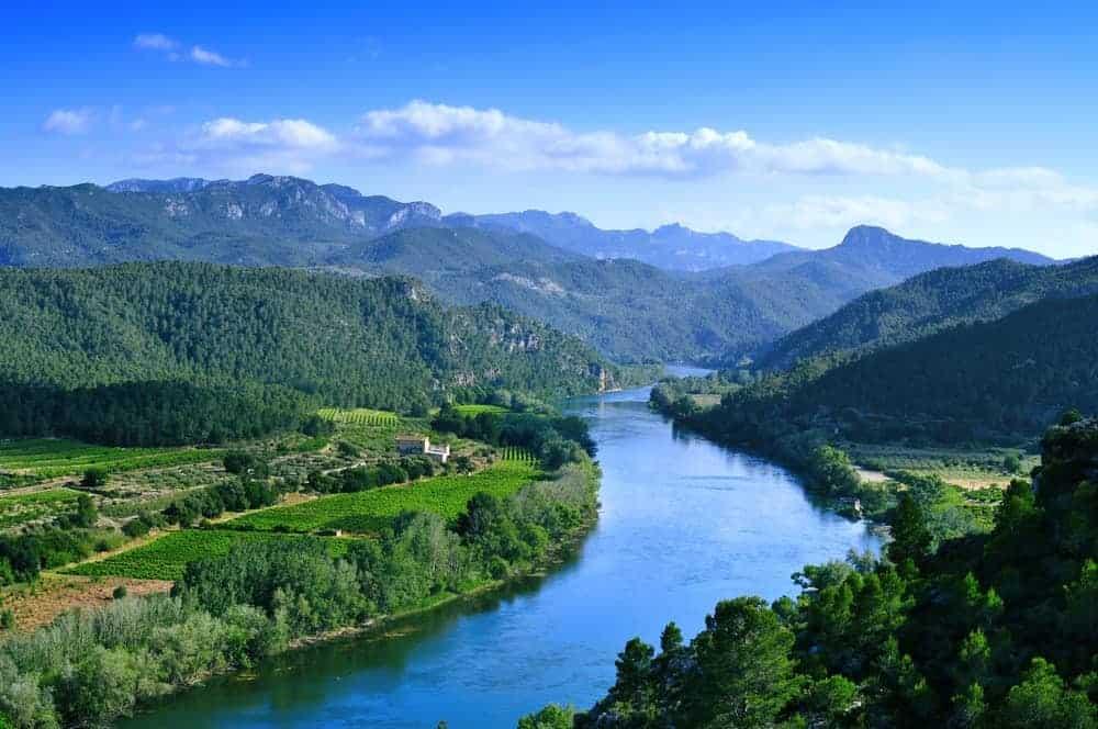 Ebro River in Spain.