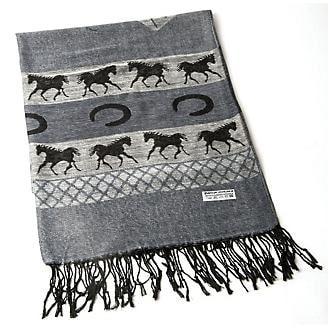 Equestrian pashmina scarf
