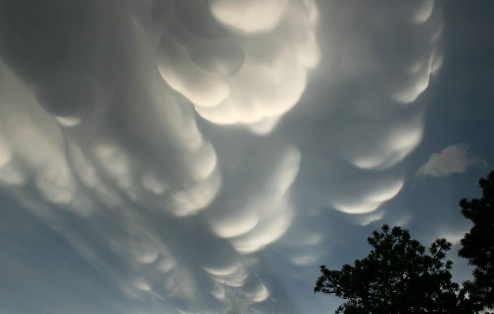 Huge Mammatus clouds