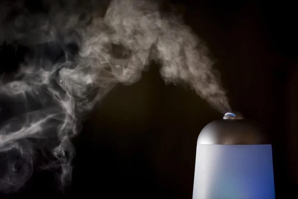 A diffuser against the black background.