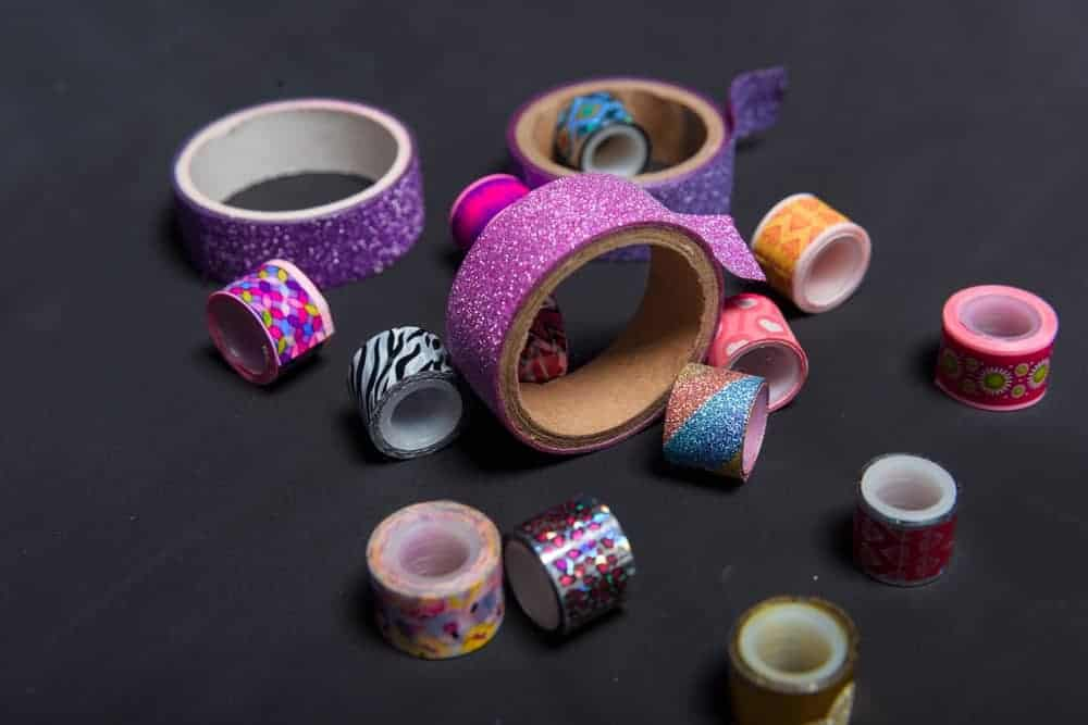 Decorative tapes in glitters and various prints.