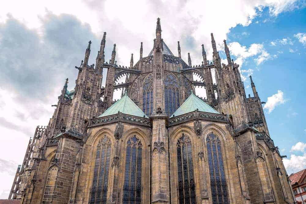 A Gothic architectural building in Prague.