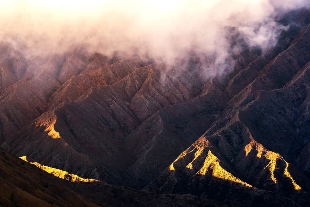 A look at the slopes of Mount Bromo made of volcanic soil.